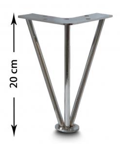 پایه مبل مفتول کروم 20 سانت