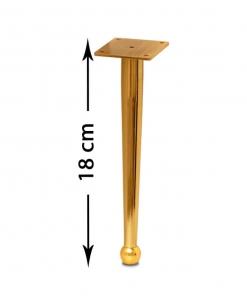 پایه مبل صدرا طلایی 18 سانت
