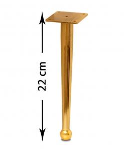 پایه مبل صدرا طلایی 22 سانت